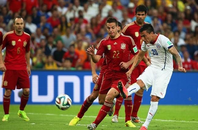2014年世界杯专题丨B组:智利2-0西班牙