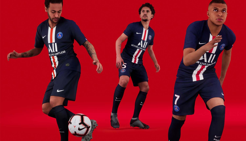 巴黎圣日耳曼2019/20赛季主场球衣发布