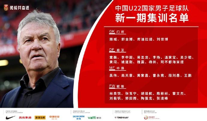 国奥集训名单公布:张玉宁领衔,黄紫昌、段刘愚入围