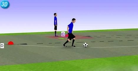 一刻足球3D训练教案第36期--传接球练习