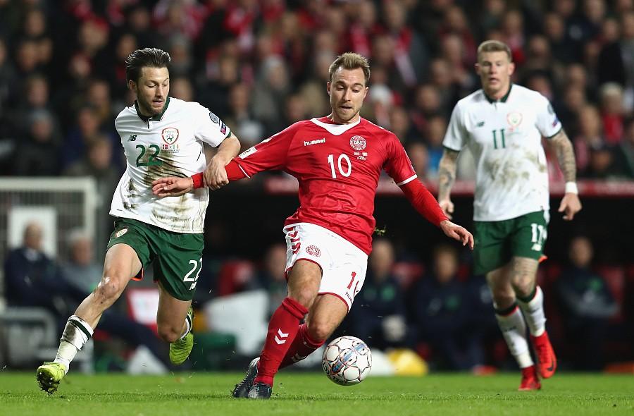 约翰:丹麦0-0爱尔兰兰道夫