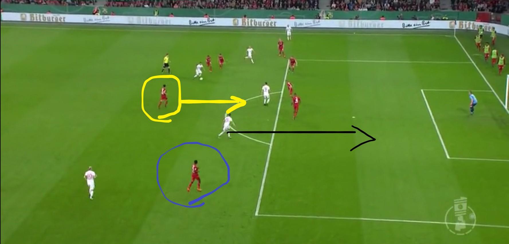 穆勒跑位赏析,德国杯拜仁慕尼黑6:2勒沃库森赛