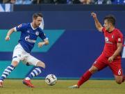两张红牌,10对10,沙尔克0:0战平弗莱堡