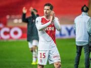 阿德里安·席尔瓦在摩纳哥1-0击败南特的比赛中首...