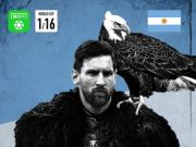 懂球帝世界杯16强海报:绝地求生!阿根廷惊险突围!