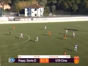 中国U19队1:1战平意丁联队,阿卜杜建功