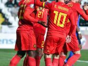 昨晚的歐預賽小組賽中,比利時2-0客場完勝塞浦路...
