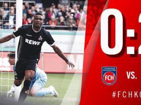 比赛集锦:科尔多瓦连场破门,海登海默0-2科隆