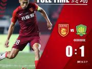 全场战罢,河北华夏幸福主场0-1不敌北京中赫国安...
