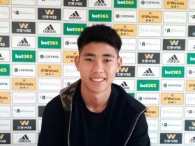 官宣:狼队签下华裔中场球员温绍康
