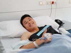 武磊手术主刀医生:亚洲杯拖延手术时机,不会影响职业生涯