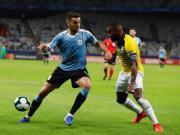在2019美洲杯小组赛首轮乌拉圭4-0大胜厄瓜多...