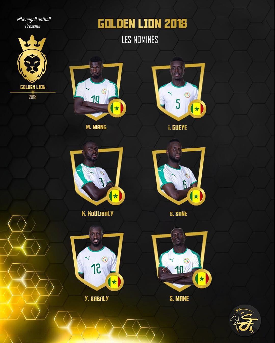 365足球网站:2018塞内加尔队年度最佳提名:马内和