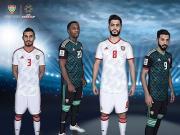阿联酋国家队2019亚洲杯主客场球衣发布