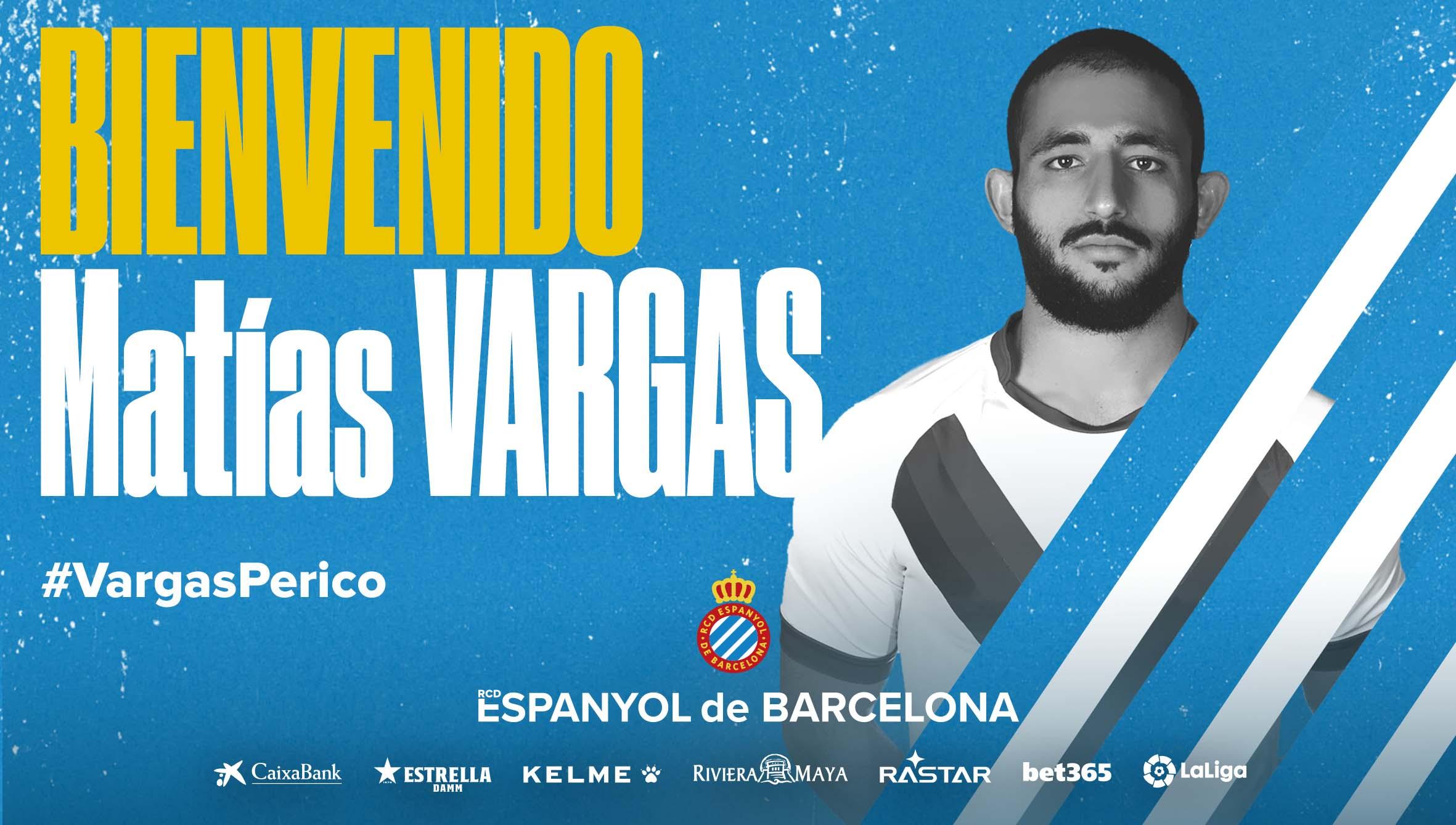 西班牙人官宣:阿根廷国脚马蒂亚斯-巴尔加斯加盟球队!