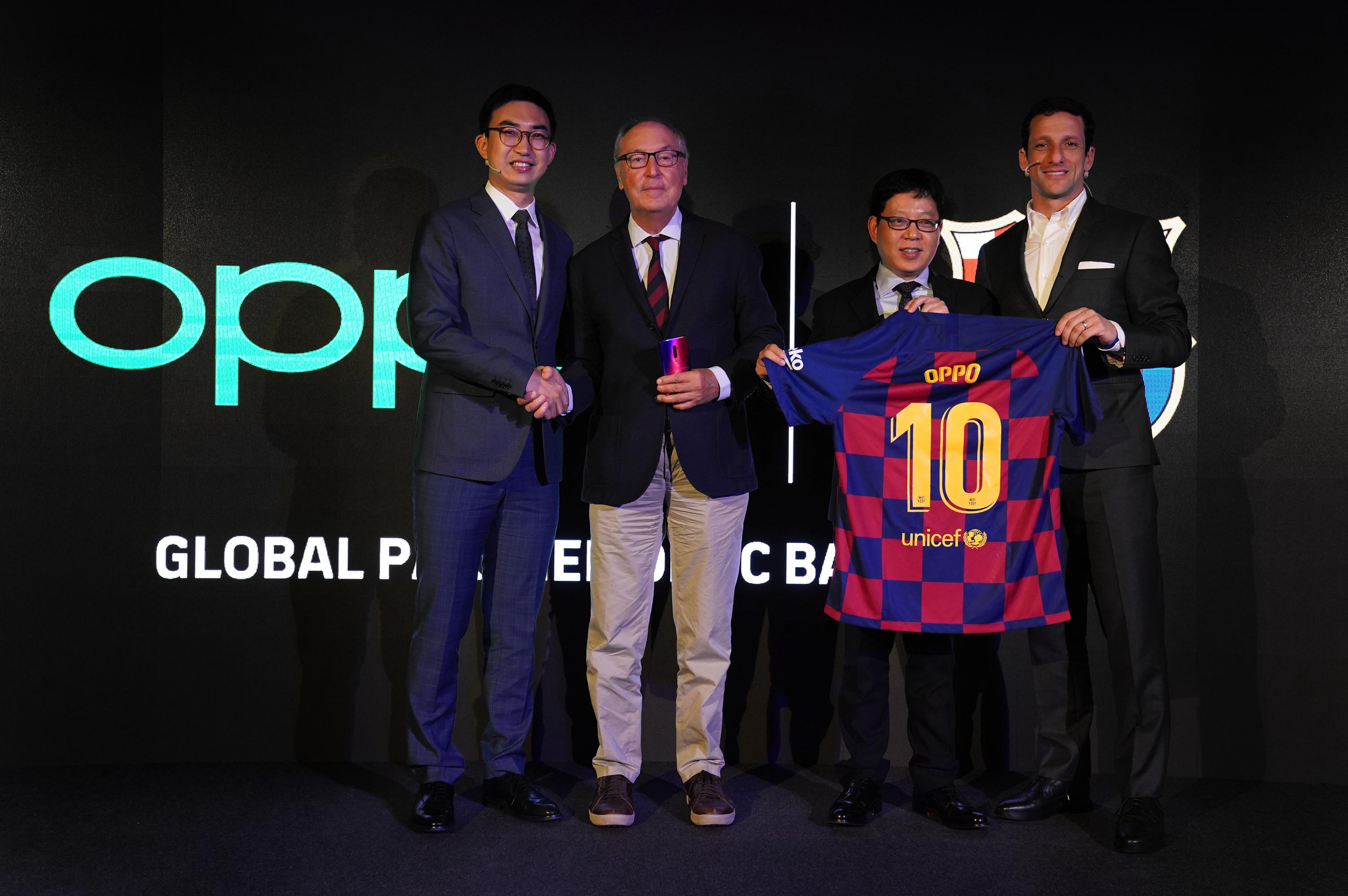 巴塞罗那足球俱乐部与OPPO达成三年续约协议