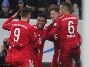 拜仁客场3-1霍芬海姆取联赛六连胜,格雷茨卡两球,莱万破门