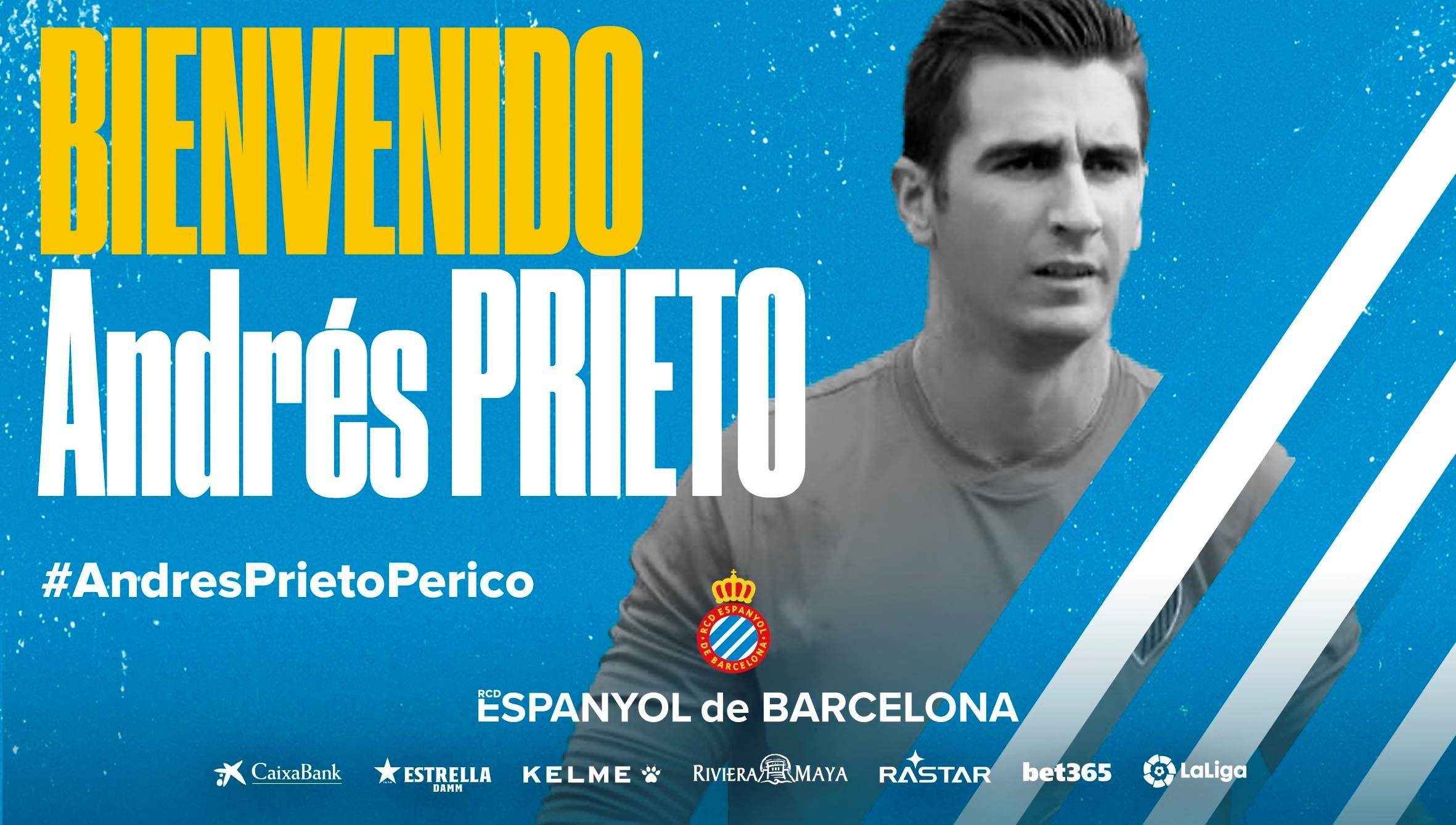 西班牙人官宣:门将安德雷斯-普列托加盟球队!