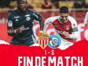 纳尔多7分钟染红法布雷加斯失误,摩纳哥主场1-5惨败