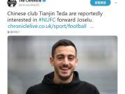 据意大利媒体报道,一家来自天津的俱乐部正在接触纽...