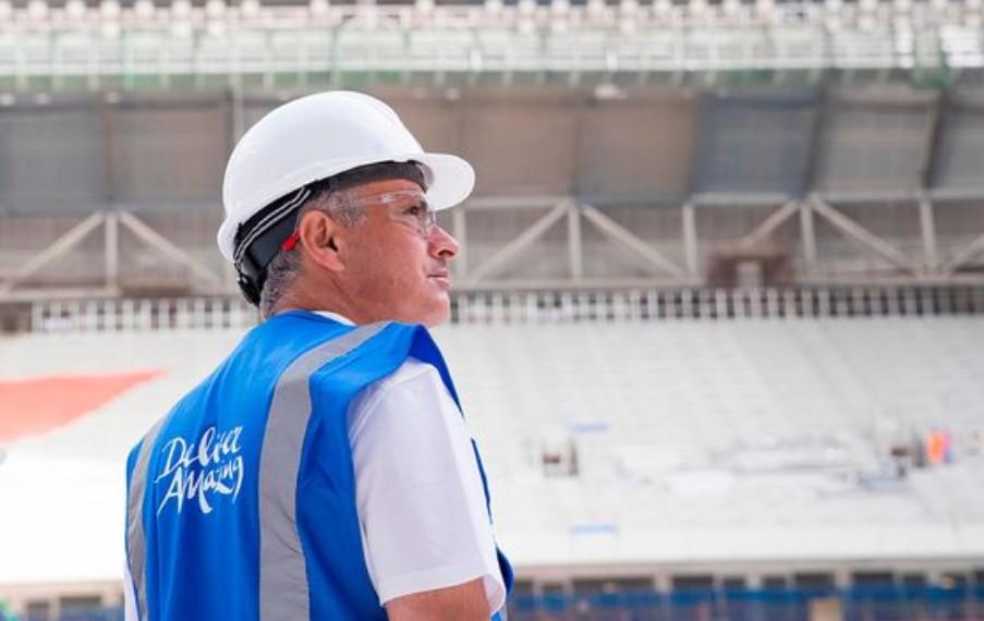 参观2022世界杯场馆穆里尼