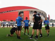 南京奥体公开训练,球员高温下全情投入备战国家德比