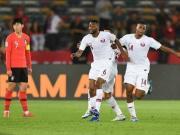 韩国0-1卡塔尔无缘四强,哈特姆世界波,黄义助