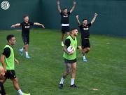 手球游戏,国际米兰的球员们表示非常开心