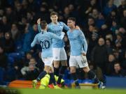 曼城2-0埃弗顿,多赛一场暂登榜首,拉波尔特、热苏斯进球