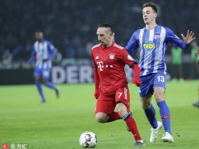 足球视频集锦:柏林赫塔 2-3 拜仁慕尼黑