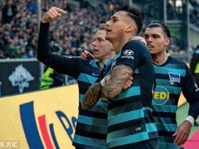足球视频集锦:门兴格拉德巴赫 0-3 柏林赫塔
