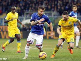 足球视频集锦:桑普多利亚 0-1 弗罗西诺内