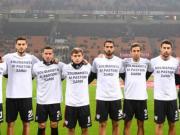 团结,卡利亚里球员身穿特殊上衣支持撒丁岛畜牧人抗议