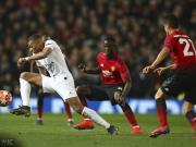 第一次,曼联在欧战赛事的主场比赛净负一球以