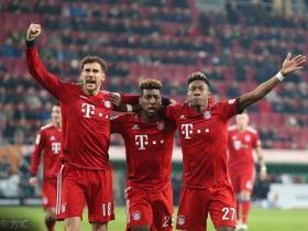 足球视频集锦:奥格斯堡 2-3 拜仁慕尼黑