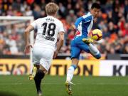 西班牙人客场0-0瓦伦西亚,武磊首发出场创历史,加梅罗中柱