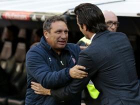 赫罗纳主帅:换位调整不是针对马塞洛;我们配得上赢球