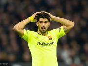 进球荒延续,苏亚雷斯已连续16个欧冠客场未进球