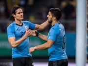 央视:苏亚雷斯和卡瓦尼确认随乌拉圭参加中国杯