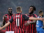 自2012年以来,米兰首次连续三场比赛打进三球