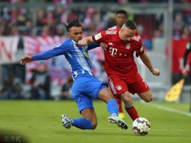 半场战报:拜仁0-0柏林赫塔,塞尔克进球因越位被判无效