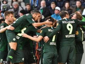 足球视频集锦:门兴格拉德巴赫 0-3 沃尔夫斯堡