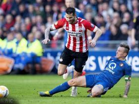 荷甲23轮,PSV主场1:1战平费耶诺德,遭遇联赛三连平