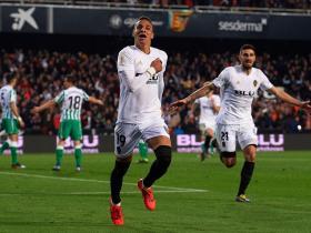 足球视频集锦:瓦伦西亚 1-0 皇家贝蒂斯