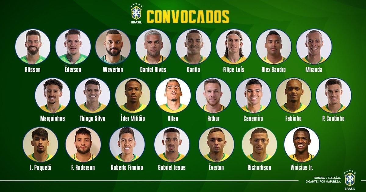 巴西队新一期名单:维尼修斯、帕奎塔入选,内马尔缺阵