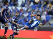 图集:武磊高能表现收获西甲首球,西班牙人球迷起立鼓掌