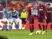 那不勒斯客场1-3红牛,总比分4-3进欧联8强,米利