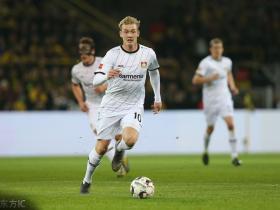 恭喜,勒沃库森攻击手布兰特当选德甲二月最佳球员