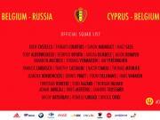 新一期比利时国家队名单:中超两
