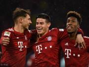 拜仁6-0美因茨重回榜首,J罗五大联赛生涯首戴帽,戴维斯破门